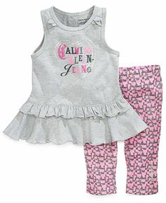 Brand new with tags Calvin Klein 2 piece set. In manufacturers packaging, cotton blend. Ships within 24 hours, excluding weekends. Little Girl Outfits, Toddler Girl Outfits, Baby Girl Dresses, Baby & Toddler Clothing, Baby Dress, Baby Girl Fashion, Kids Fashion, Calvin Klein Outfits, Outfits Niños