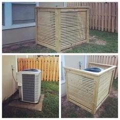 Hey y'all,We are pretty excited to bring you our latest build. In our back yard we have an old ugly ac unit. It's an eye sore like most people's AC units!So we decided to hide it with these easy DIY AC shroud. Ac Unit Cover, Ac Cover, Outdoor Projects, Diy Projects, Outdoor Decor, Backyard Projects, Garden Projects, Backyard Ideas, Garden Ideas