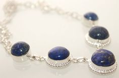 HOT BLUE AFGHAN LAPIS LAZULI .925 STERLING SILVER NECKLACE HOLIDAYS GIFT IDEAS  #Handmade #Necklace