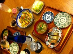 鯖寿司(京都みやげ)、具だくさん豚汁、麩チャンプルー、白菜のお漬物 22/11/2012