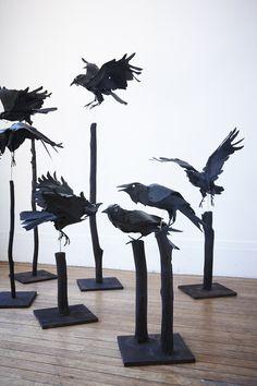 Anna Wili Highfield Paper Sculpture Copper Pipe Sculpture