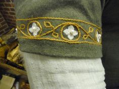 SCA Clothing-2 by elise_fleming, via Flickr. I would love to do something like this on the hems of my core elf for the Shades of Ruin larp. :)