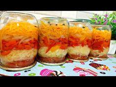 НОВИНКА!!! ЛЕНИВЫЙ САЛАТ НА ЗИМУ! ГОТОВЬТЕ СРАЗУ ДВЕ ПОРЦИИ - YouTube Preserving Food, Preserves, Diet Recipes, Stuffed Peppers, Canning, Vegetables, Ethnic Recipes, Desserts, Mascarpone