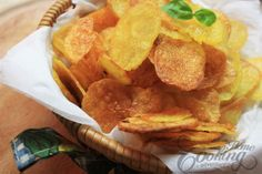 Homemade Baked Potato Chips :: Home Cooking Adventure Made these tonight and added parsley and dill.. SO GOOD!