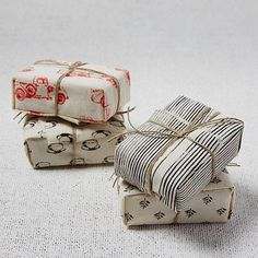 Fabric-Wrapped Soaps #westelm cute gift wrap idea