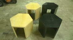 www.m37auction.com: 4 Custom John Morgan Hexagonal Tables