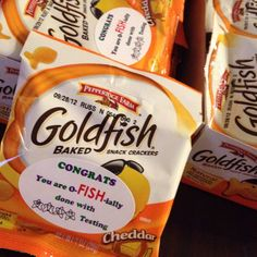 STAR test treats for Mrs H class. Goldfish pkgs approx $10 and had the labels.