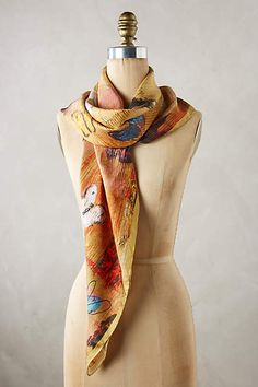 Butterfly Fields Square Scarf - anthropologie.com #anthroregistry