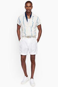 J.Crew et la mode des années 50 version 2016  #ss16 #mensfashion #menswear #50s #mensstyle #fashion #men #lookbook #trend #mode #tendance #pe16 #white #stripes #summer #style #clohting #chillout #cdp #shortsleeves
