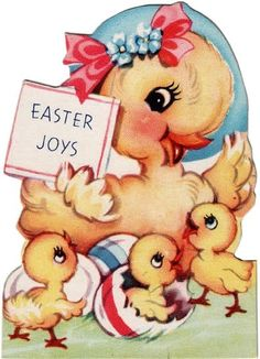 Happy Holidays: A Little Tour of My Brain, Part 16 - Children's Easter Cards