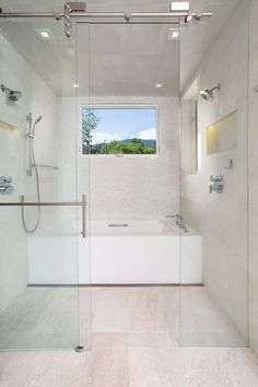 This Contemporary Bathroom Incorporates A Wet Room Area With No Threshold Shower And