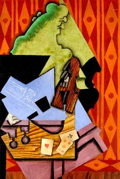 ABOUT THE ARTIST Juan Gris (1887-1927) Movement: Cubism Although Juan Gris was never a cubist by intention, he is one of the three inventors of the style. Most of his subjects are still lifes and his palette is dark, with lots of blues and browns. His works have complex geometric designs with images slipping in …