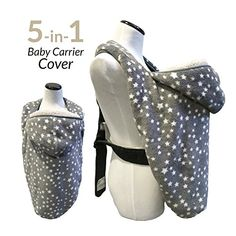 Baby Carrier Covers - THE WARMEST, cuddliest, AWARD WINNING, DOUBLE FLEECE winter cover, fits onto ALL baby carriers. Adjustable with Hoodie. 5-in-1 Multipurpose - use as Stroller Cover, Poncho & more