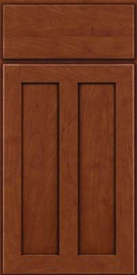 KraftMaid Cabinets -Square Recessed Panel - Veneer (WI) Maple in Chestnut w/Onyx Glaze from waybuild