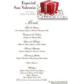 Menú especial de san Valentín, Gran Hotel La Toja