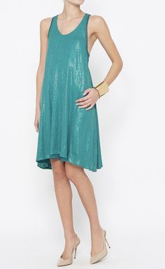 3.1 Phillip Lim Green Sequin Dress | VAUNTE