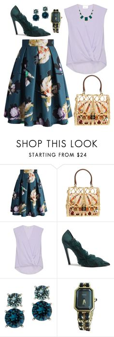 """""""Untitled #204"""" by helenatalia2001 ❤ liked on Polyvore featuring Chicwish, Dolce&Gabbana, 3.1 Phillip Lim, Balenciaga, Anne Klein, Chanel and House of Harlow 1960"""