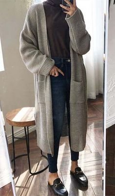 Comfy in Fascination Cardigan - outfits - Kids Outfit Warm Outfits, Mode Outfits, Fall Winter Outfits, Autumn Winter Fashion, Casual Outfits, Hijab Casual, Autumn Casual, Muslim Fashion, Hijab Fashion