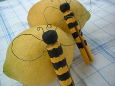 Bumble Bee Clothespin Spring Decor Treasury Featured on Etsy, $2.95