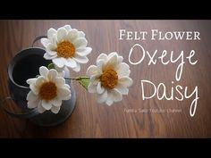 How to Make Felt Flower : Oxeye Daisy Felt Diy, Handmade Felt, Handmade Flowers, Diy Flowers, Felt Crafts, Fabric Flowers, Paper Flowers, Cork Crafts, Baby Crafts