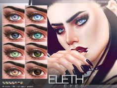 Eleth Eyes N95 by Pralinesims at TSR • Sims 4 Updates