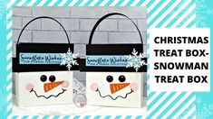 Christmas Paper Crafts, Stampin Up Christmas, Homemade Christmas Gifts, Christmas Gift Tags, Christmas Treats, Christmas Activities, Snowman Party, Snowman Crafts, Treat Box