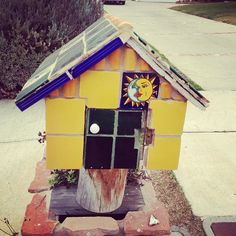 A bright colored TILED  mailbox, what do u think? - @Carly Alyssa Thorne- #webstagram