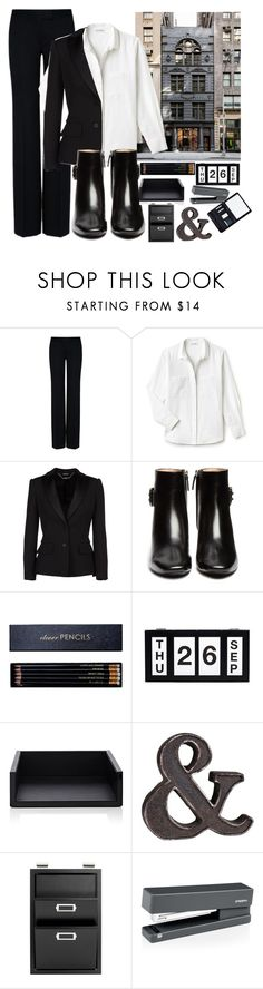 """Office Fashion"" by creativejenerator ❤ liked on Polyvore featuring STELLA McCARTNEY, Lacoste, Alexander McQueen, Tod's, Sloane Stationery, Smythson, Pottery Barn, poppin. and Royce Leather"
