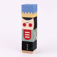 Nutcracker Stacking Blocks - handmade toy for babies 12mt+   MollyMoo for @Spoonful