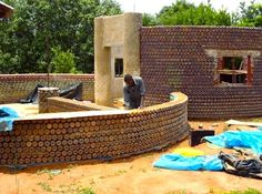 Did you know that you can make houses out of plastic bottles? By filling them with sand, and molding them together with mud or cement, the w...