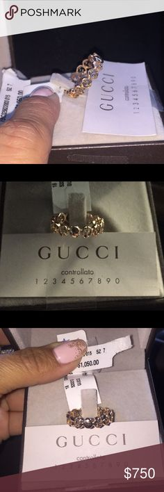 GUCCI Made in Italy 18K Yellow Gold 1973 Ring Sze7 Authentic GUCCI Made in Italy 18K Yellow Gold 1973 Ring Size 7  MSRP $1050 🚫NO TRADES 🚫 Gucci Jewelry Rings
