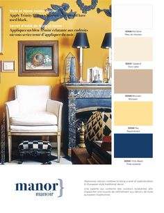 Glamorous colours combine to bring a level of sophistication to European-style traditional decor.