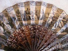 Antique Victorian Mourning Fan Horn Sticks Italian Circa 1850   eBay