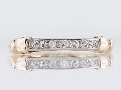 Filigree Jewelers :: Vintage Wedding Band Mid-Century .11 Single Cut Diamonds in 14k Yellow & White Gold-Minneapolis, Minnesota www.filigreejewelers.com