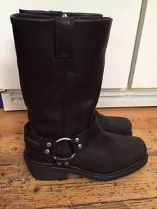 Harley Davidson Womens Waterproof Bike Safe Boots UK 6 | eBay