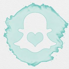 AESTHETIC ICON, WATERCOLOR ICON, SNAPCHAT WATERCOLOR ICON, SEAFOAM ICONS