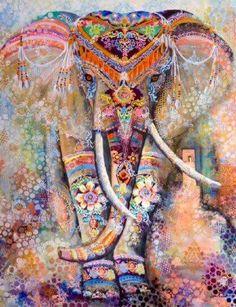 ☮ American Hippie Art ☮  Elephant