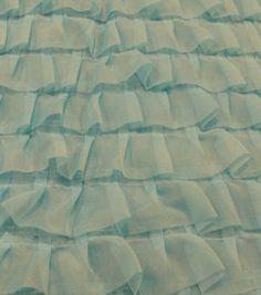 Sew Sweet Collection- Chiffon Pleated Ruffle Blue Radiance