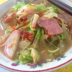 お昼は、家で長崎チャンポン❗️ 豚肉がなかったので、ペッパーハムで代用(^^;; - 43件のもぐもぐ - 家で長崎チャンポン by wildcatffm