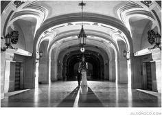Chicago City Hall Wedding Portrait  | Chicago Wedding Photographer | Jill Tiongco Photography