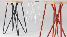 Design produit - tabouret de bar acier et bois