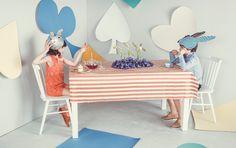 Een prachtige en zoete collectie van Mango kinderkleding in samenwerking met het toffe magazine MilK, geïnspireerd op Alice in Wonderland.
