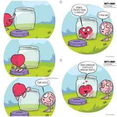 Te quiero mucho ♥ sta. Angel Heart Vs Brain, Awkward Yeti, Miss You Already, Heart Quotes, Love Words, Famous Quotes, New Pictures, Funny Quotes, Daddy Daughter
