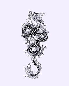 Mini Tattoos, Cute Tattoos, Body Art Tattoos, Small Tattoos, Tattoos For Guys, Tattoos For Women, Japanese Dragon Tattoos, Japanese Tattoo Art, Henne Tattoo