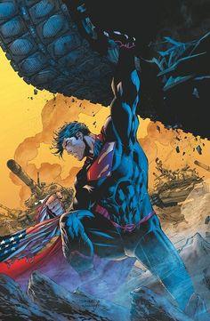 Superman Man of Steel DC Comics New 52 Jim Lee Covers Superheroes Superhero