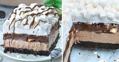 Hot Chocolate Lasagna is delicious dessert, perfect for parties to feed the crowd. It's completely no bake recipe!If you are looking for perfect Christmas Easy Desserts, Delicious Desserts, Dessert Recipes, Sweet Desserts, Dessert Ideas, Chocolate Lasagna Dessert, Chocolate Desserts, Holiday Baking, Christmas Baking