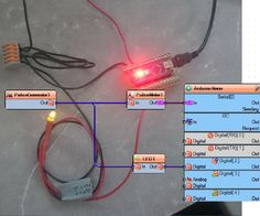 Visuino: PulseMeter description A Visuino Instructable by Andreas Sachs in German :-) #Visuino #Arduino