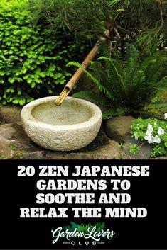 20 Zen Japanese Gardens to Soothe and Relax the Mind 20 Zen Japanese Garden Ideen Japanese Garden Design, Japanese Gardens, Japanese Style, Tall Indoor Plants, Japanese Stone Lanterns, Zen, Evergreen Hedge, Gravel Landscaping, Garden Basket