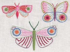 Butterflies Transfer for Hand Embroidery