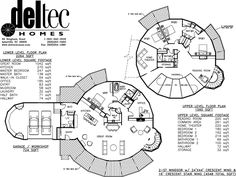 deltec model home floor plans -- I LOVE this floor plan. Unique and fantastic. Not quite as spacious as some of the other floor plans I've looked at, but I adore that it's circular.